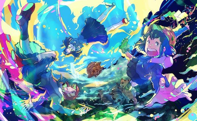 【二次創作】TVアニメ「映像研には手を出すな!」イラストコンテスト応募作品