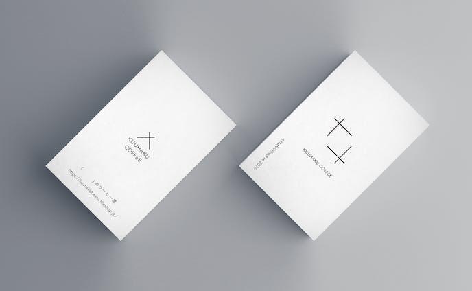 KUUHAKU COFFEEさま ロゴ&ショップカード
