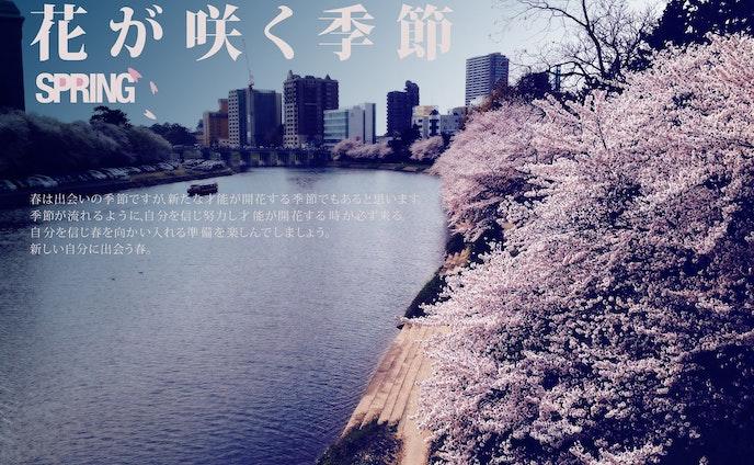 花が咲く季節