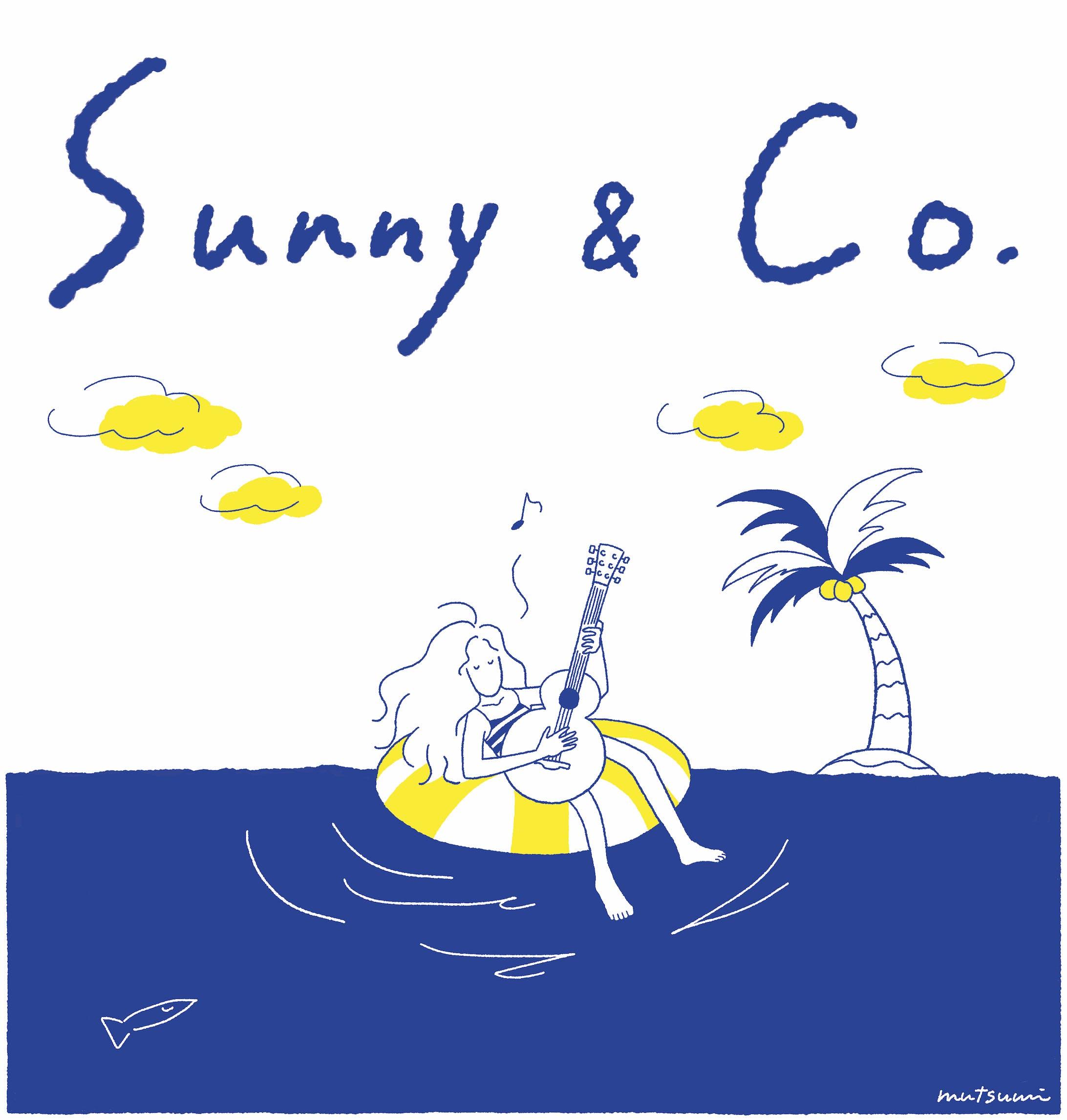 """【Tシャツ】""""Sea & Girl"""" プリントTシャツ『Sunny & Co 』-1"""