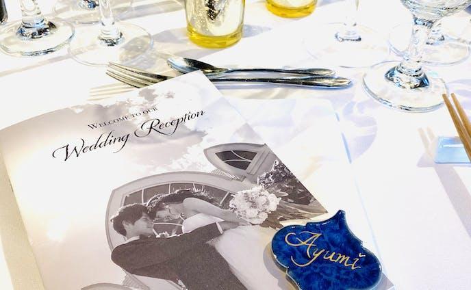 【Wedding】プロフィールブック、席札