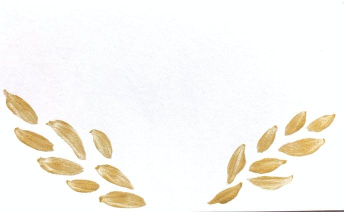 ゴールドメッセージカード
