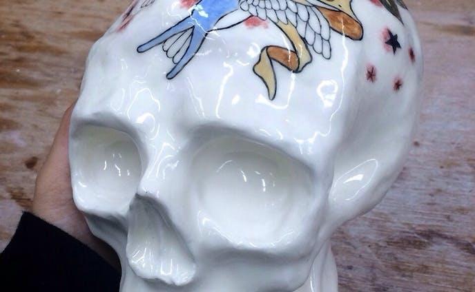 Ceramic skull/TATTOO