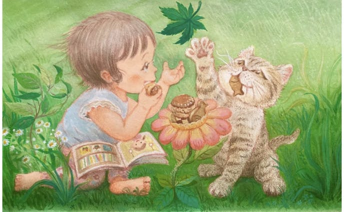 「夏楓舎」ショップカードのイラストレーション