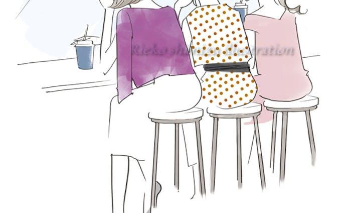 オリジナルイラスト-女子会-