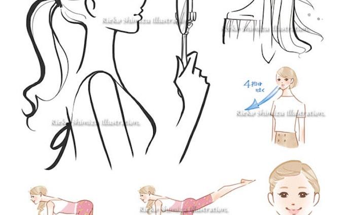 アスコム「医者が教える最高の美肌術」書籍中面イラスト