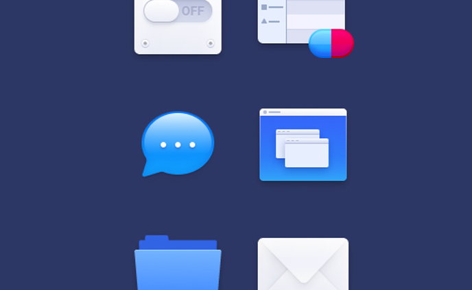MacOS Style Iconography