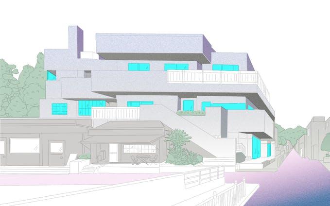 建物(ボツカラー案)