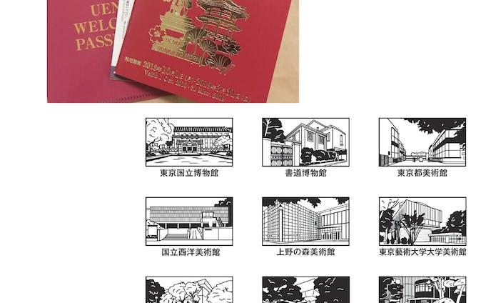 上野ウエルカムパスポート図版