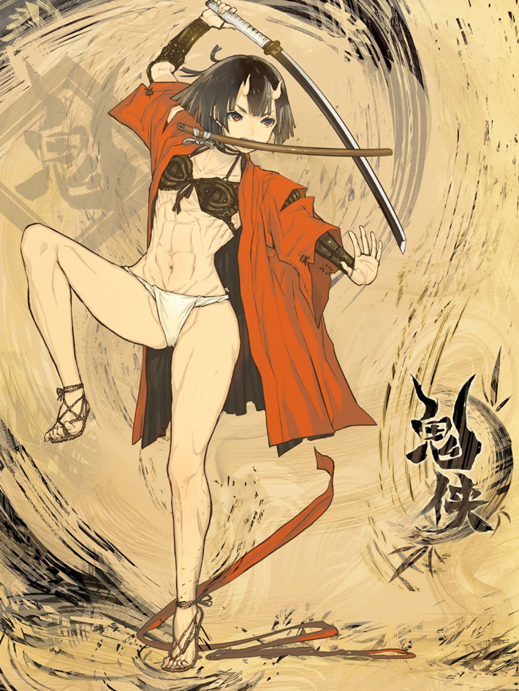 「創作」鬼の剣客-4