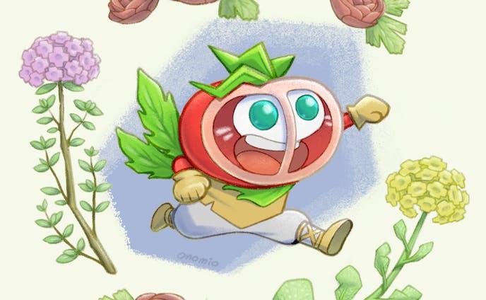 ひょうきんなトマトの妖怪