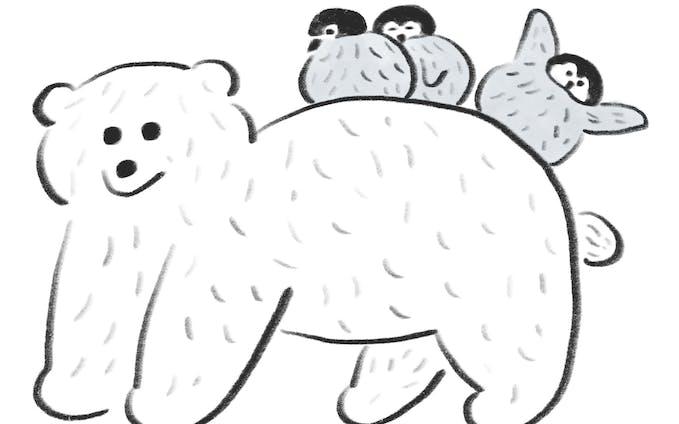 イラスト | シロクマこどもとペンギンこども