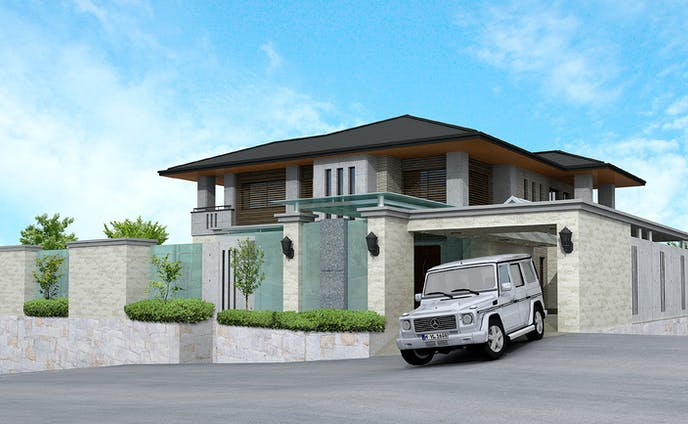 一般建築住宅  外観CGパース