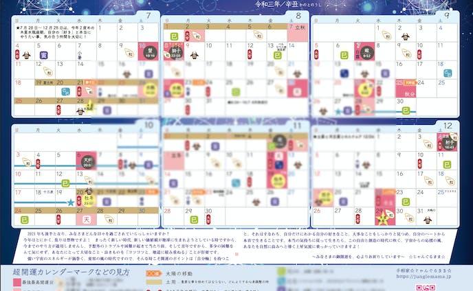 超開運カレンダー2021