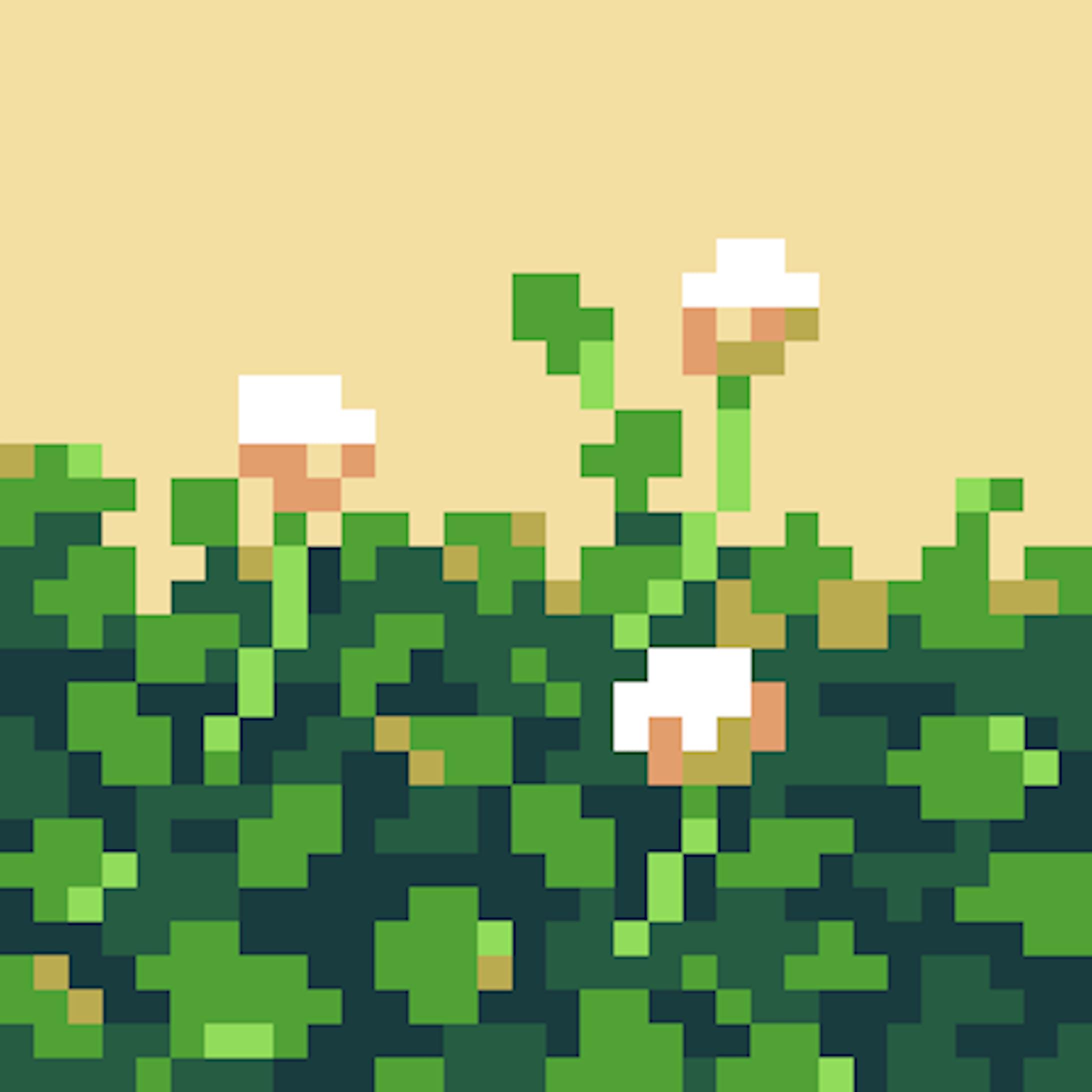 草木のドット絵-5