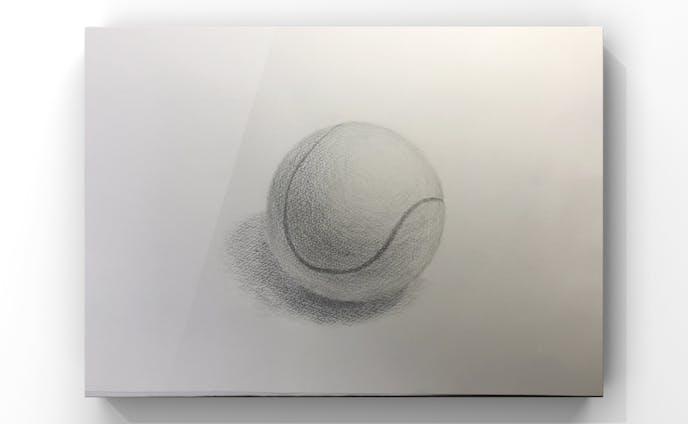 静物デッサン テニスボール