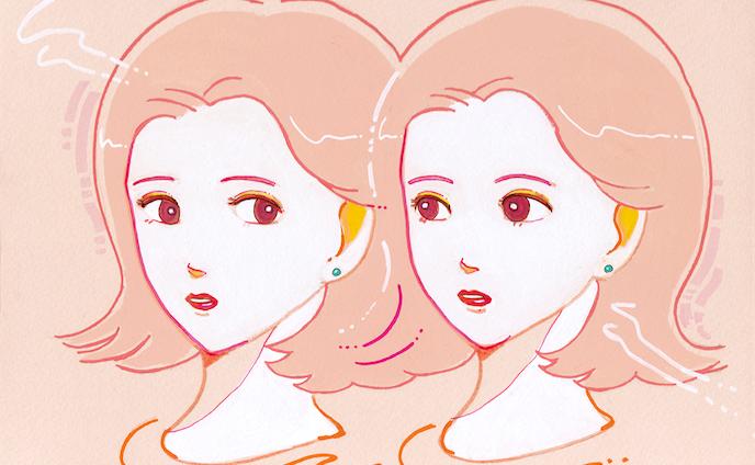 twins girls pink