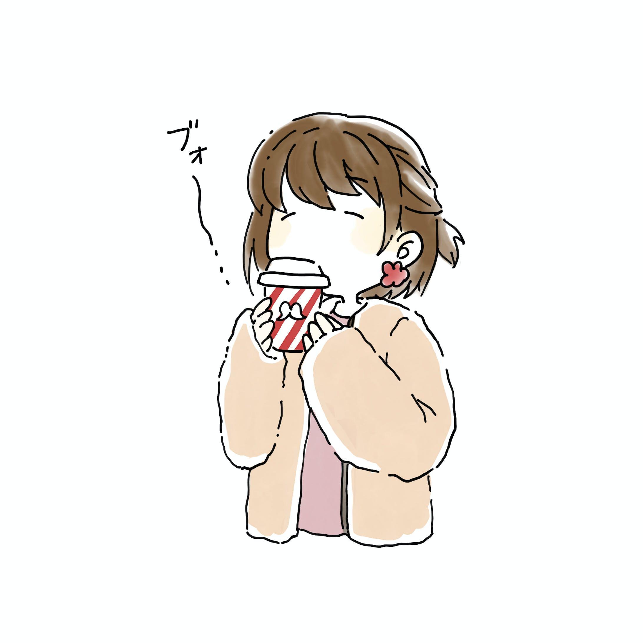 【イラスト】ぶきっちょガール-14