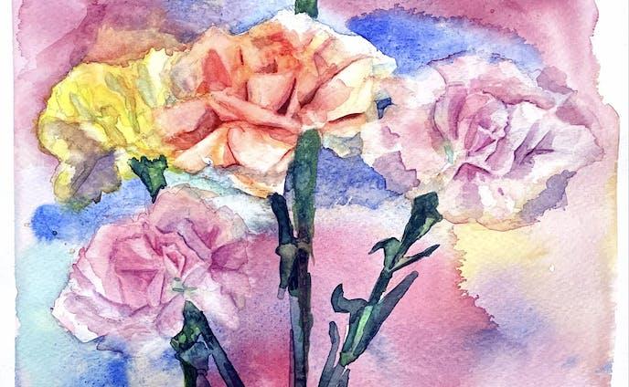 色鉛筆、水彩画