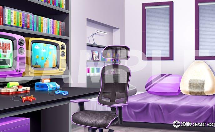 女性VTuver「猫又おかゆ」の自室背景