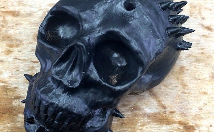 Ceramic skull/メタリックスタッズ