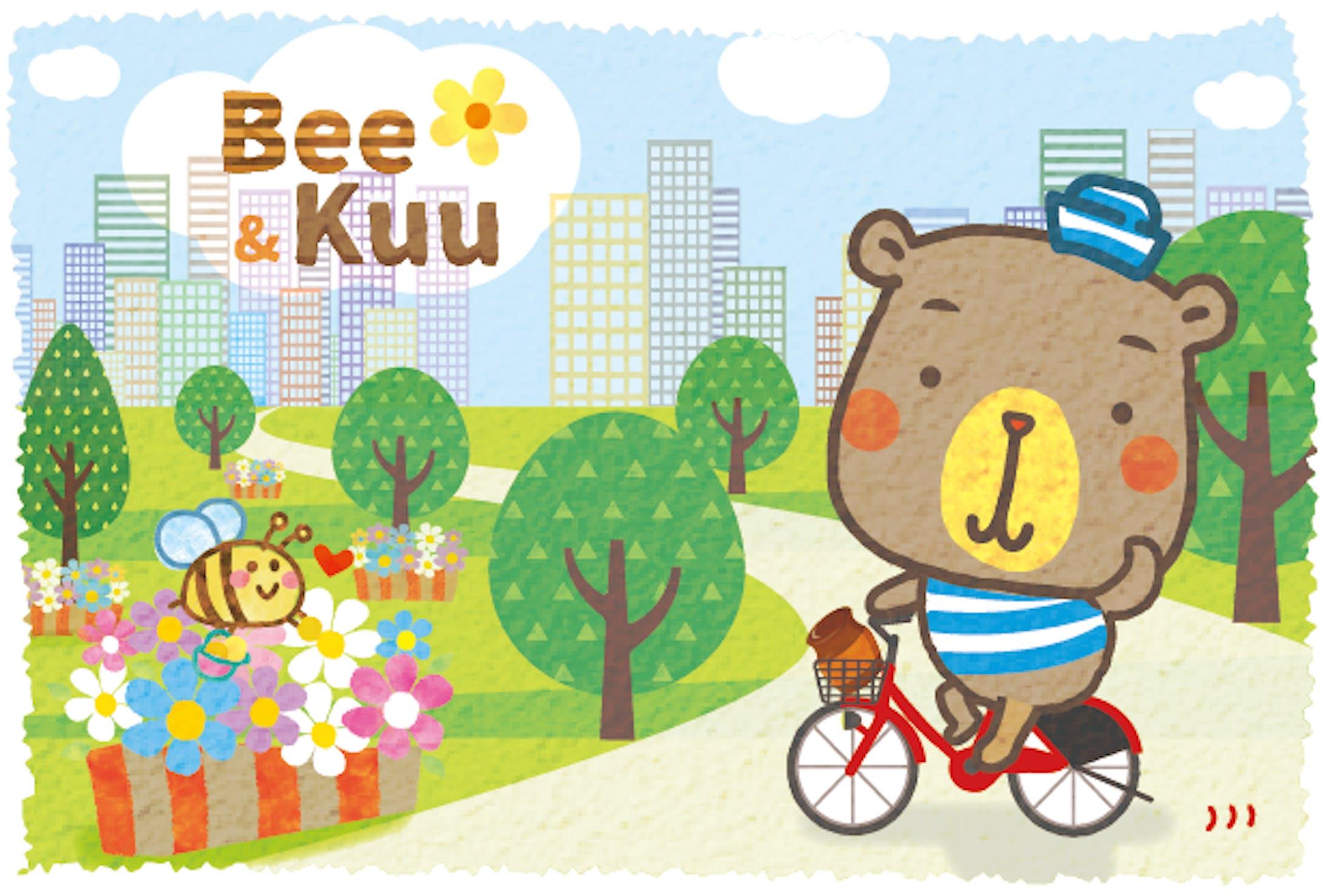 はちみつキャラクター Bee&Kuu-1