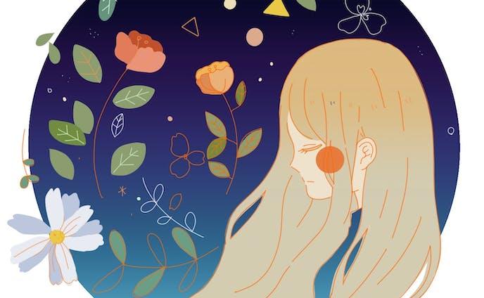 イラストレーション、少女