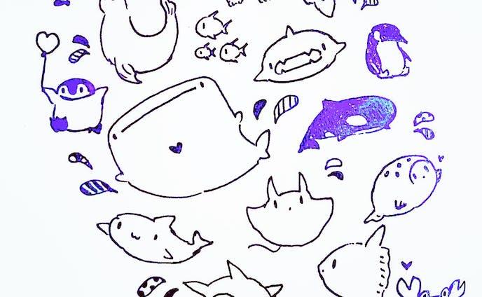 ゆるい海の生き物シリーズ