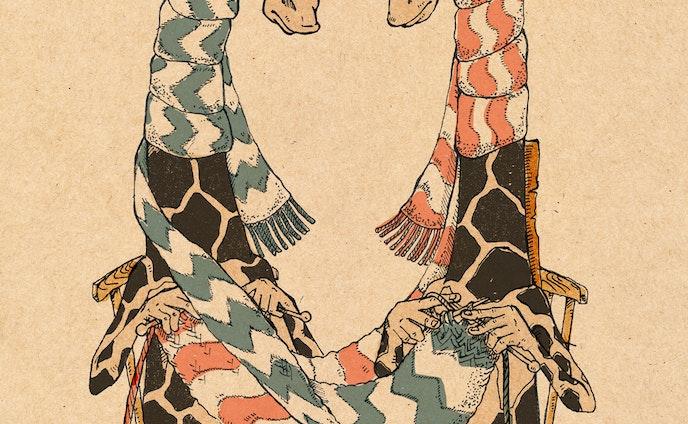 編み合う二匹