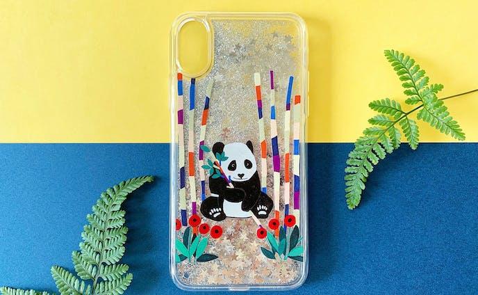 パンダの秘密基地 iPhone グリッターケース
