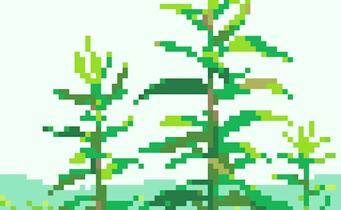 草木のドット絵