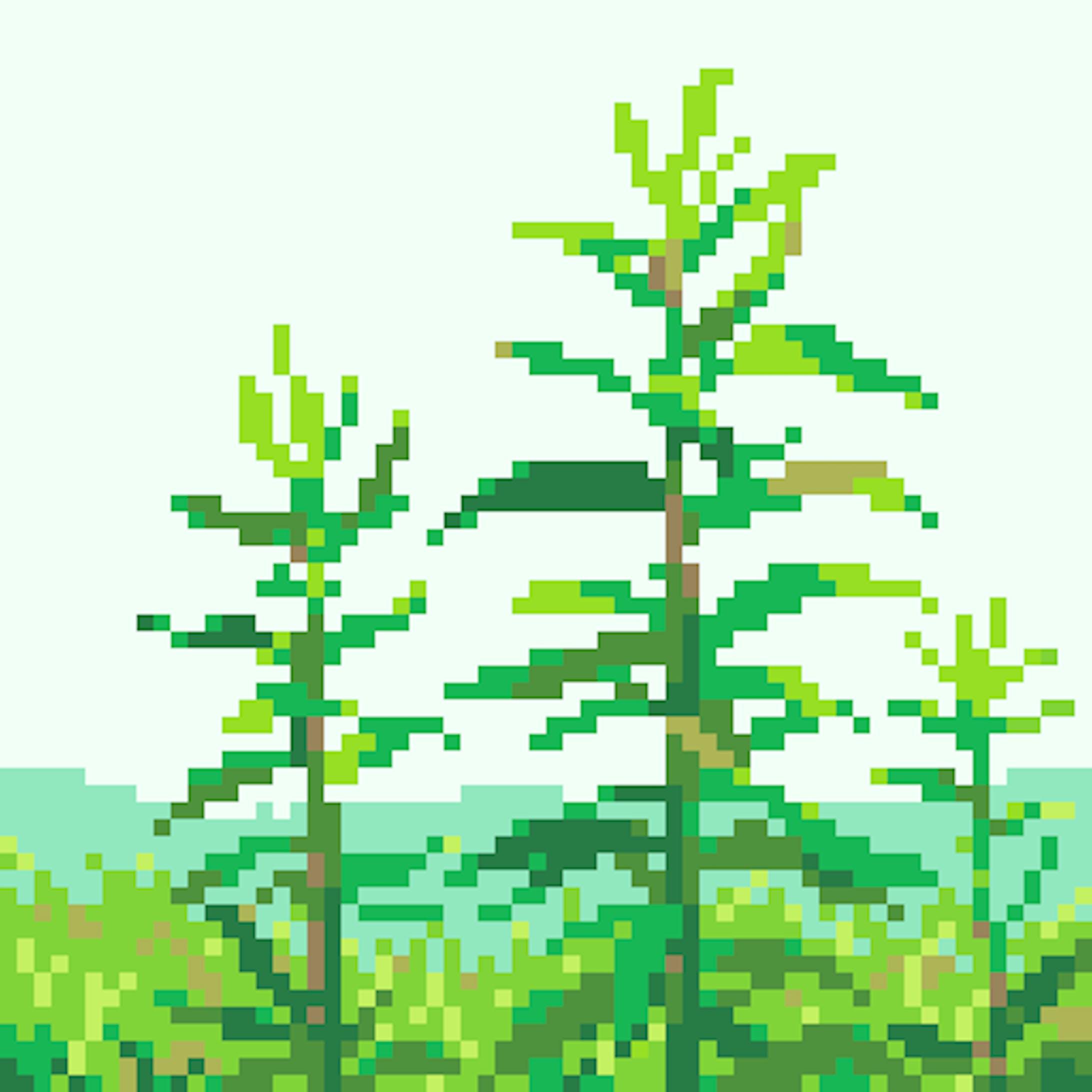 草木のドット絵-1
