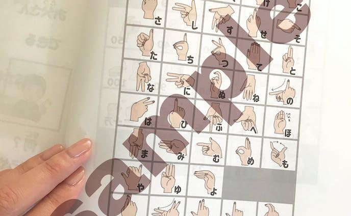 手話用指文字