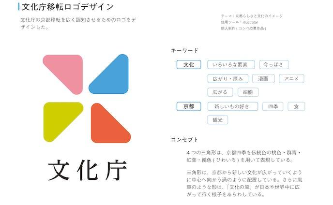 文化庁移転ロゴデザイン