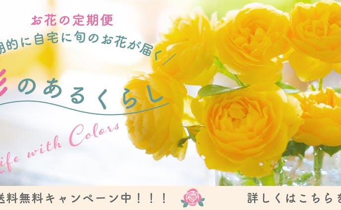 バナー制作:お花の定期便