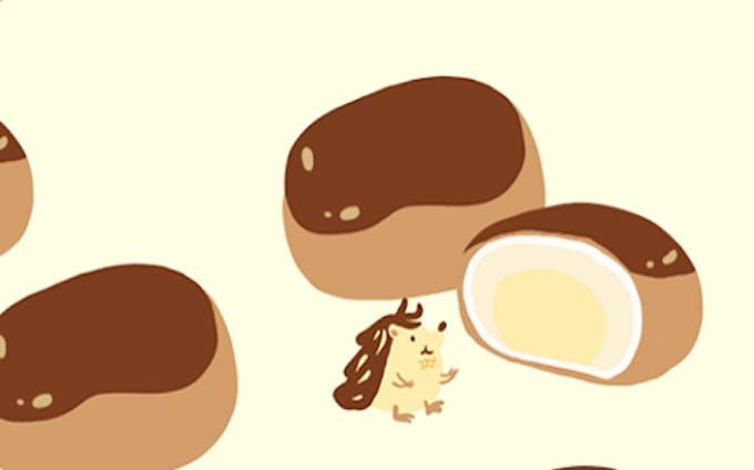 栗饅頭とハリネズミさん
