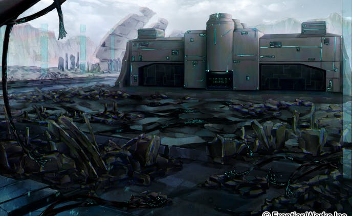 サイバーパンク風の廃墟