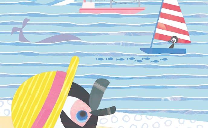 海にやってきたペンギン