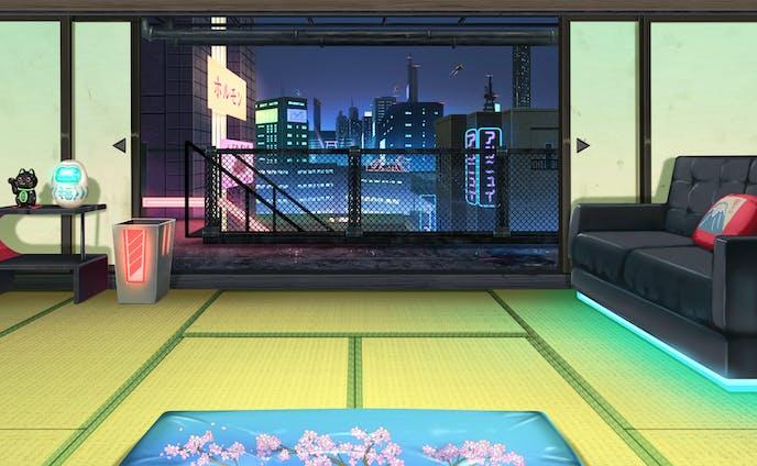 サイバーパンク×和室