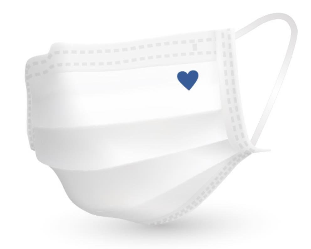 """「青いハートマーク」をマスクに描き、""""支え合い""""の気持ちを表明 活動を始めた医療従事者たちの思い"""