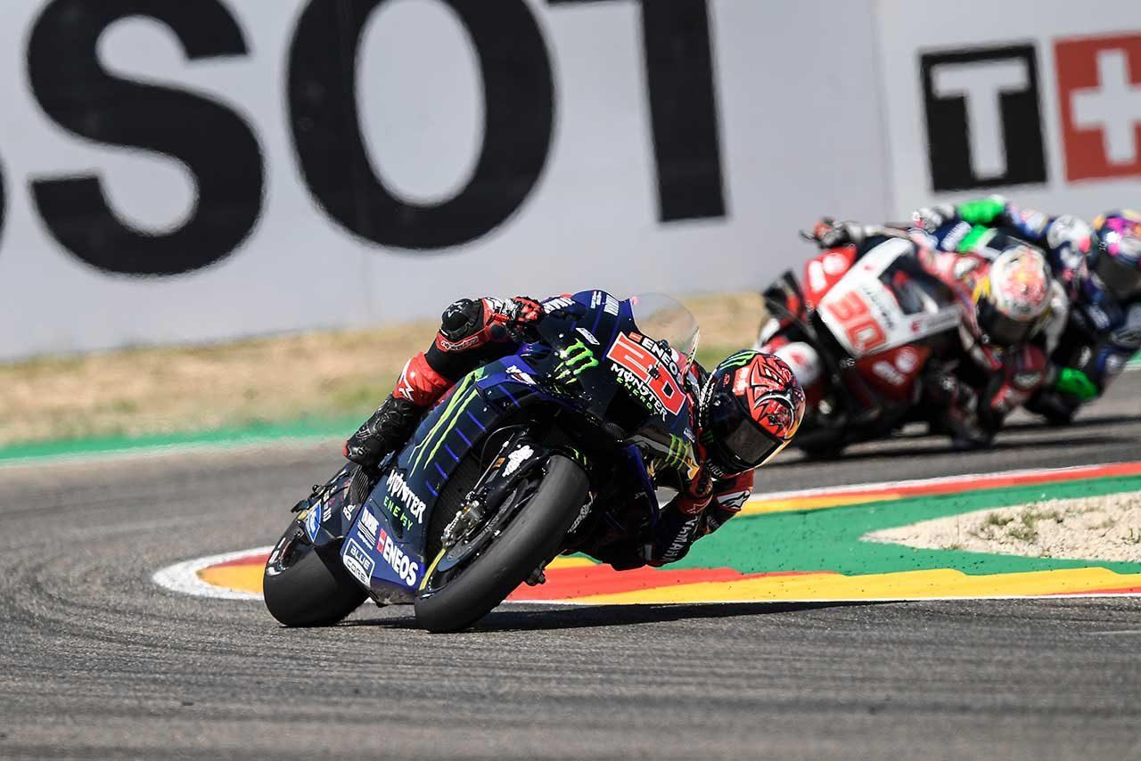 MotoGPコラム/第13戦アラゴンGP:クアルタラロ、リヤタイヤの問題で後退するもチャンピオンシップのために得た8位