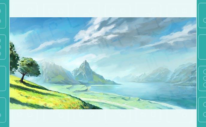 【自主制作】湖の草原