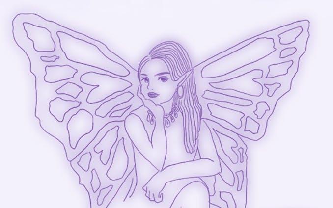 占いウェブサイトの妖精キャラクター
