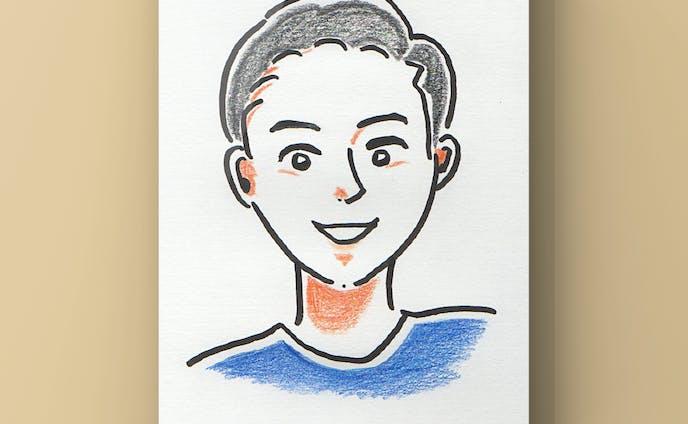似顔絵 Mens Portrait