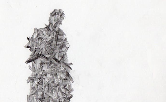シリーズ「鉛筆による抽象画」