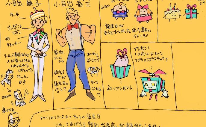 デザイン『誕生日アプリのキャラクター』