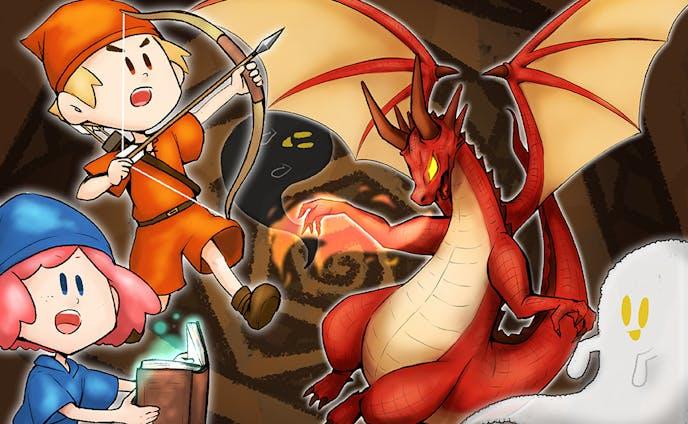 ボードゲーム「Dragon-scary-go-round」パッケージイラスト