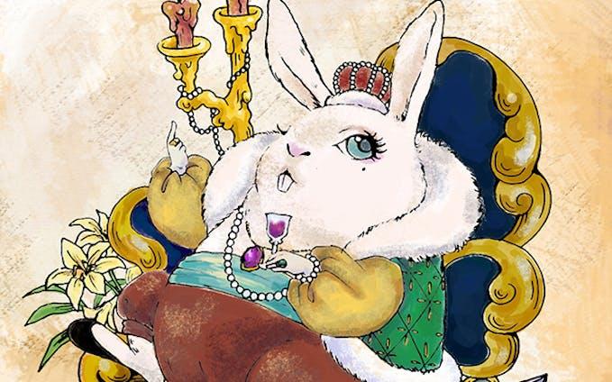 【イラスト】『うさぎの王さま』 @momo