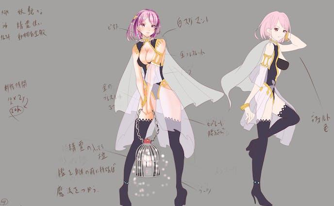 ファンタジー風キャラクターデザイン
