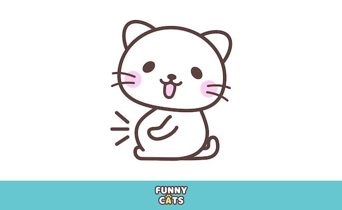 お腹いっぱいで満足顔の猫